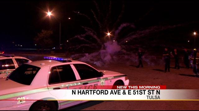 Exploding Fireworks Aimed At Tulsa Police, Firefighters