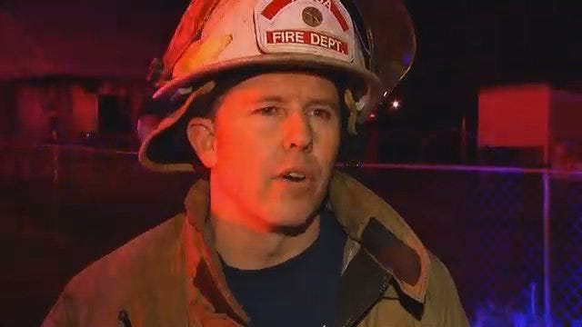 WEB EXTRA: Tulsa Fire Captain Jeremy Moore Talks About House Fire