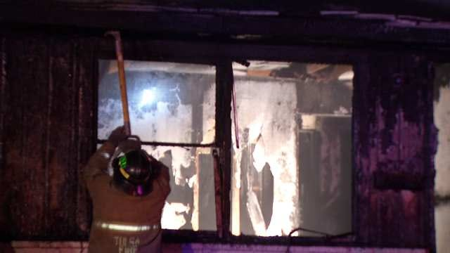 WEB EXTRA: Video From Scene Of North Tulsa Vacant House Fire