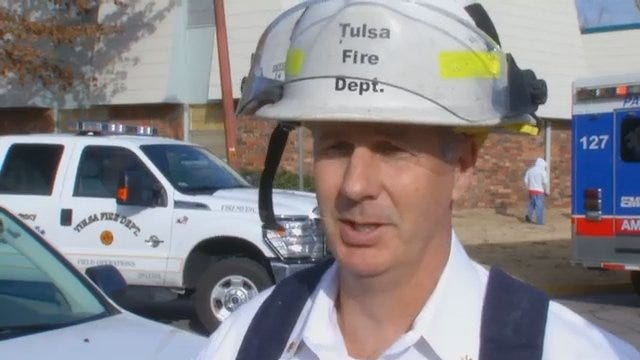 WEB EXTRA: Tulsa Fire Assistant Chief Doug Woods Talks About Apartment Fire