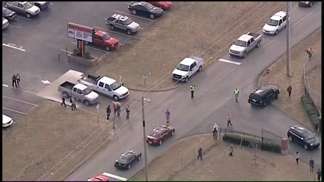WEB EXTRA: SkyNews6 Flies Over Coweta High School