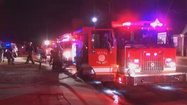 WEB EXTRA: Video From Scene Of Tulsa House Fire on South Delaware