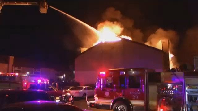 WEB EXTRA: Video From Scene Of South Tulsa Apartment Fire