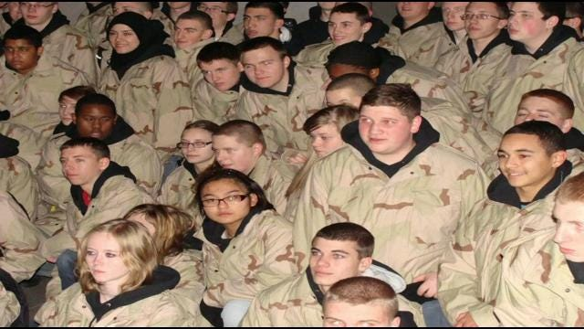 Union High's Jr. ROTC Honored To March In Inauguration Parade