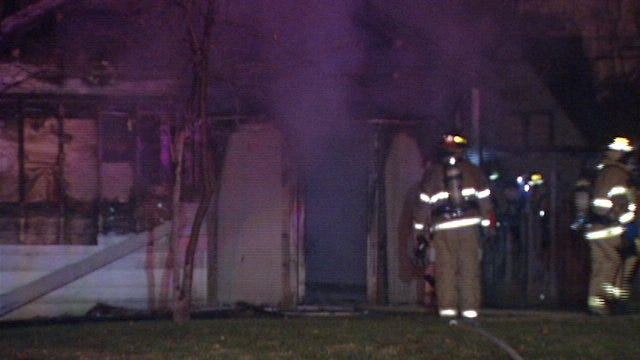 WEB EXTRA: Video From Scene Of East 26th Street House Fire