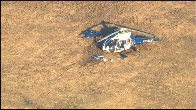 WEB EXTRA: SkyNews9 Flies Over Medical Helicopter Crash Site