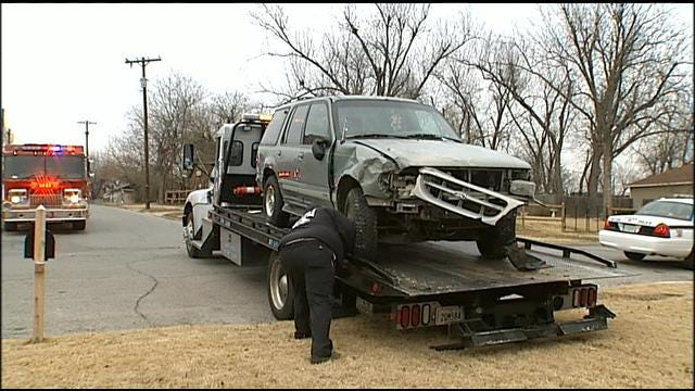 Tulsa Family Escapes Injury When SUV Plows Into Living Room