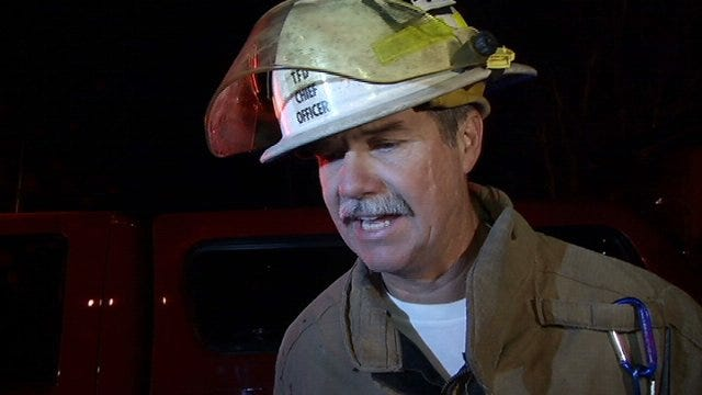WEB EXTRA: Tulsa Fire District Chief Bennie Atrring Talks About Fire