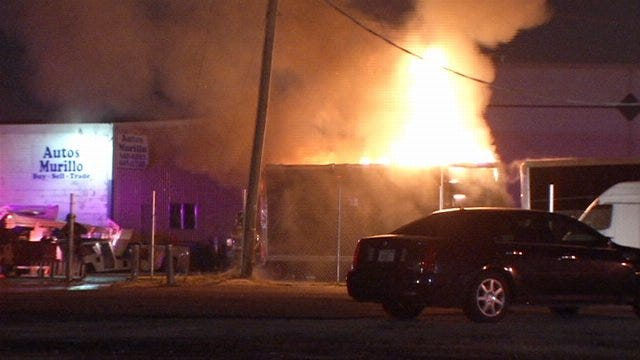 WEB EXTRA: Video From Scene Of Storage Building Fire In Tulsa