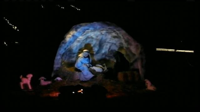 Owasso Kids Stage Elaborate Drive-Thru Nativity Scene