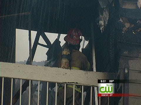 Fire Damages East Tulsa Apartment Complex