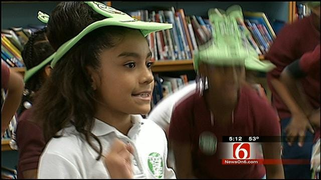 Gilcrease Elementary Kids Help Kick Off Annual Flu Prevention Campaign