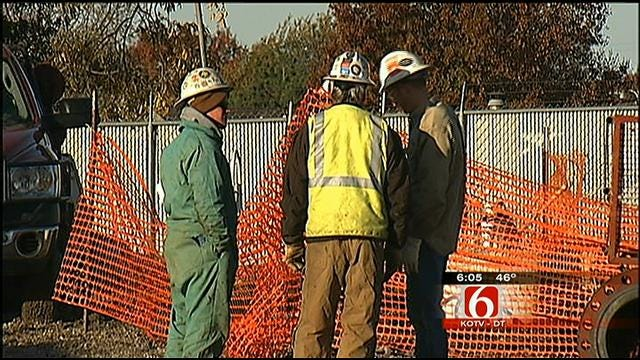 South Tulsa Natural Gas Line Rupture Shut Off, Streets Re-Opened