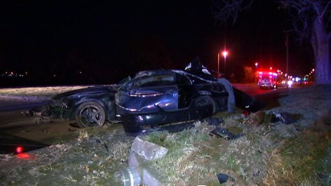 WEB EXTRA: Two Mustangs Wreck On Riverside Drive