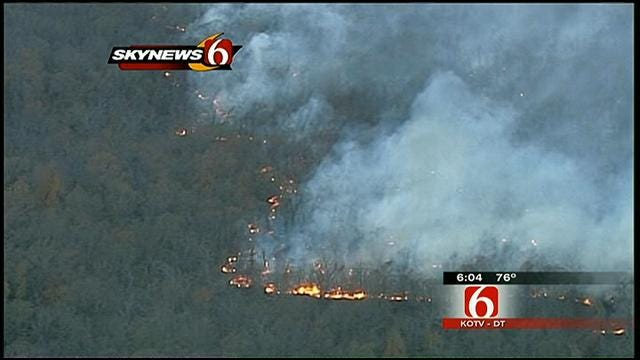 Crews In Bixby Keep 300-Acre Fire From Damaging Structures