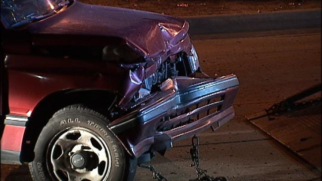 WEB EXTRA: Video From Scene Of Tulsa Rear-End Crash At Intersection
