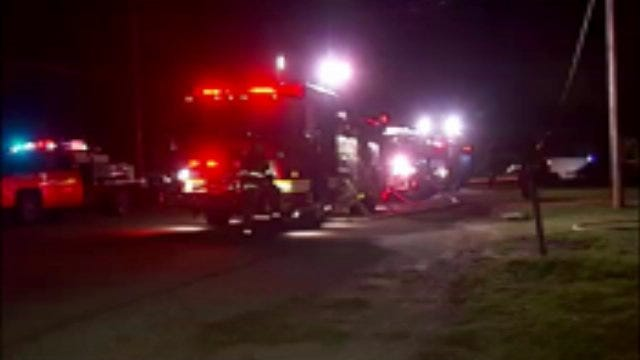 WEB EXTRA: Video From Scene Of Catoosa House Fire