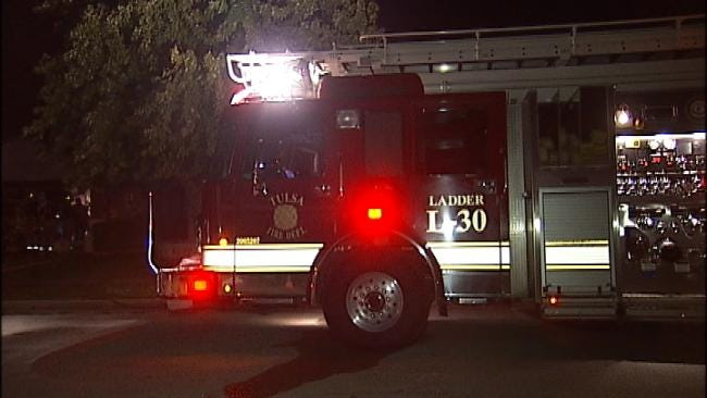WEB EXTRA: Video From Scene Of East Tulsa House Fire Late Monday