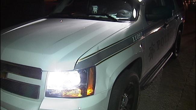Tulsa Man Flees Police, Runs Into Police Vehicle