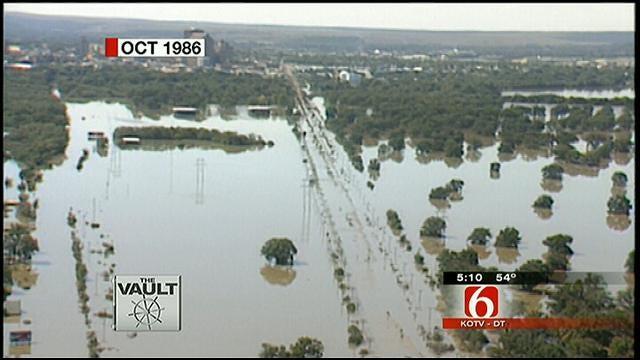 From The KOTV Vault: Flooding Along Arkansas River In 1986