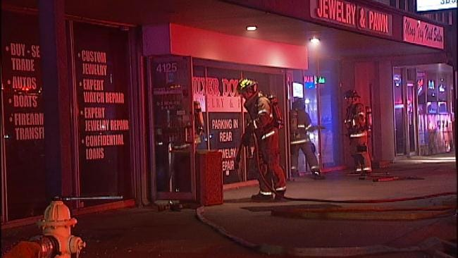WEB EXTRA: Video From Scene Of Tulsa Pawn Shop Fire