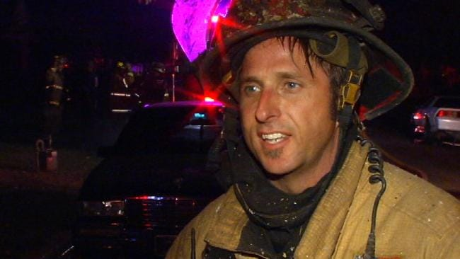 WEB EXTRA: Tulsa Fire Captain Keith Beck Talks About House Fire On East Young
