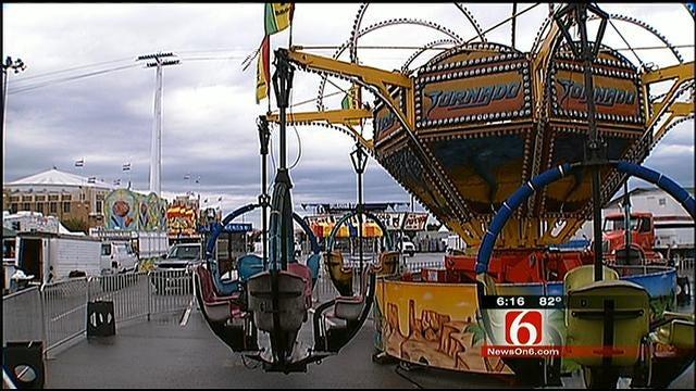 Inspectors Prepare Rides For Open Of Tulsa State Fair