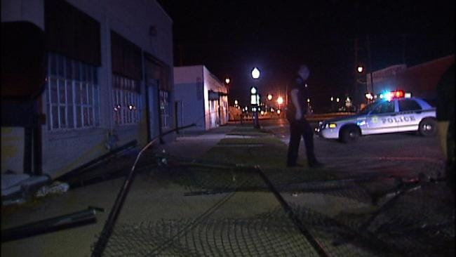 WEB EXTRA: Video From Scene Of Tulsa Business' Fence Damaged Overnight