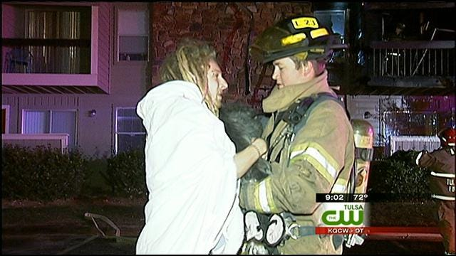 Tulsa Firefighters Put Out Apartment Fire, Rescue Dog