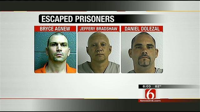3 Men Escape Vinita Prison, Considered Armed, Dangerous