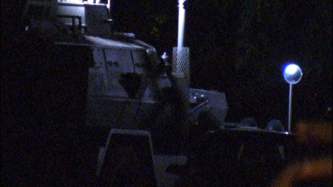 WEB EXTRA: Video From Scene Of West Tulsa Police Standoff