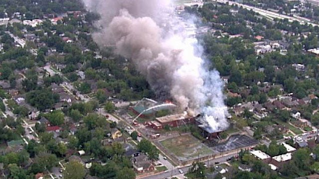 WEB EXTRA: View Of The Fire From SkyNews6