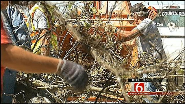 Nowata County Residents Clear Wreckage From Deadly Storm