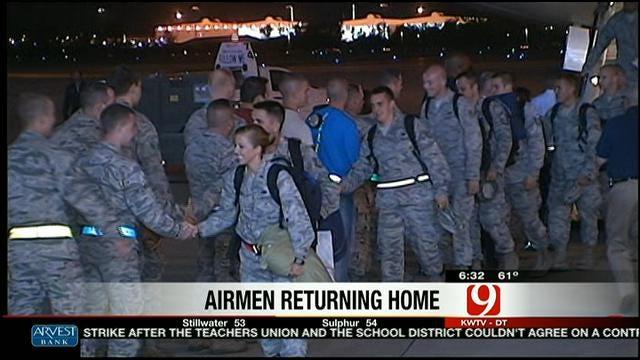 Airmen Return To Tinker Air Force Base
