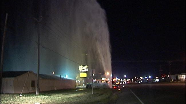 WEB EXTRA: Video Of East Tulsa Water Geyser
