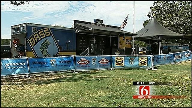 Professional Anglers Flock To Fort Gibson Lake For Bassmasters Tournament