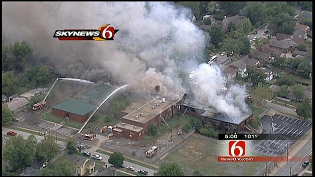 Caught On Video: Fire, Explosion Destroy Tulsa School Of Arts And Sciences