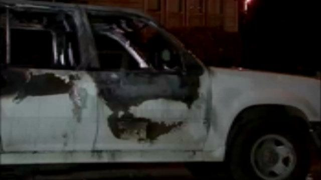 WEB EXTRA: Video From Scene Of Two Tulsa Car Fires Overnight