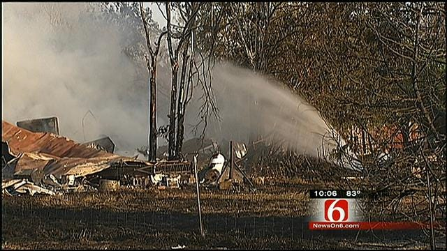 Several Fires Started By Farm Equipment, Multiple Structures Burned