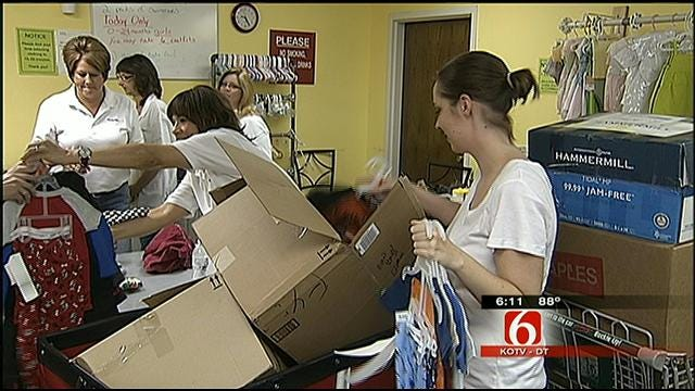 Call Center Employees Throw Baby Showers To Collect For Oklahoma Charity