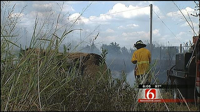 Downed Power Line Ignites More Than 150 Hay Bales In Sperry
