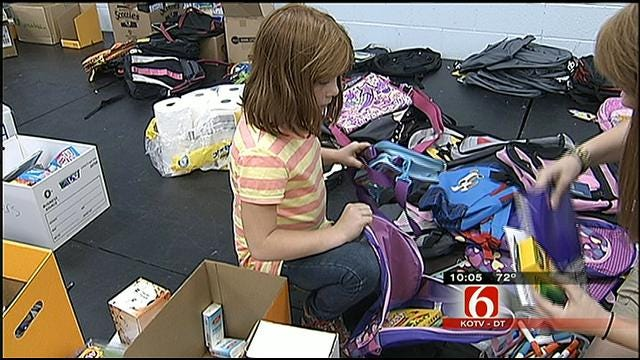 Mannford Students Receive School Supplies Donated From All Over Green Country