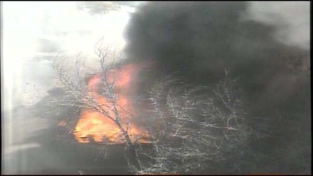 WEB EXTRA: South Tulsa Apartment Complex Burns