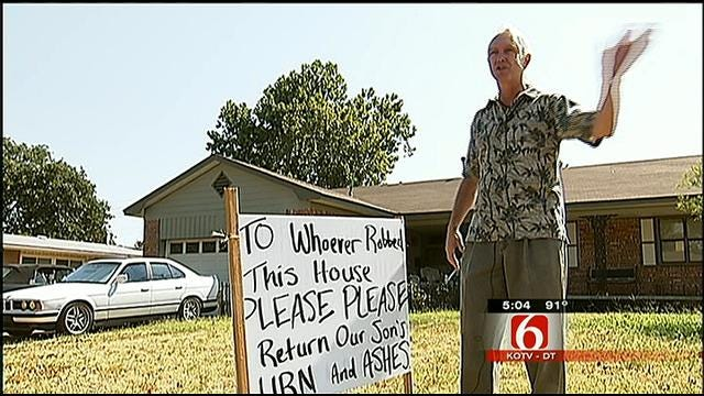Ashes Of Tulsa Man's Son Stolen During Robbery