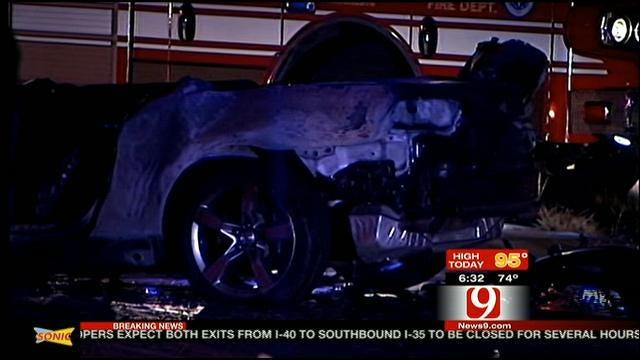 Fiery Crash Kills Five People On I-40 Near Downtown OKC