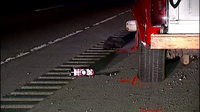WEB EXTRA: Video From Scene Of Fatal Hit And Run Crash On U.S. Highway 169