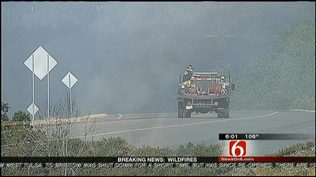 Creek County Wildfire Rages On; Mannford, Drumright Evacuated