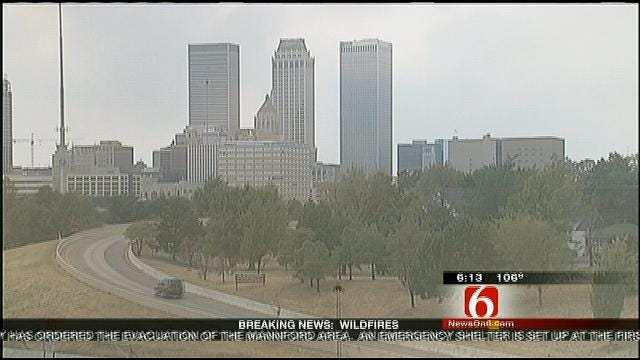 Creek County Wildfires Impact Air Quality In Tulsa
