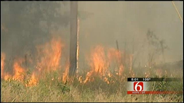 Creek County Grass Fires Close Section of Highway 33