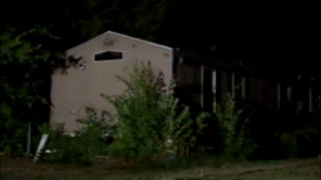 WEB EXTRA: Video From Scene Of Creek County Trailer Fire